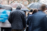 44mm, ISO 400, 1/3 Sec, f16 focused on man inthe blue coat who was stationary in the crowd